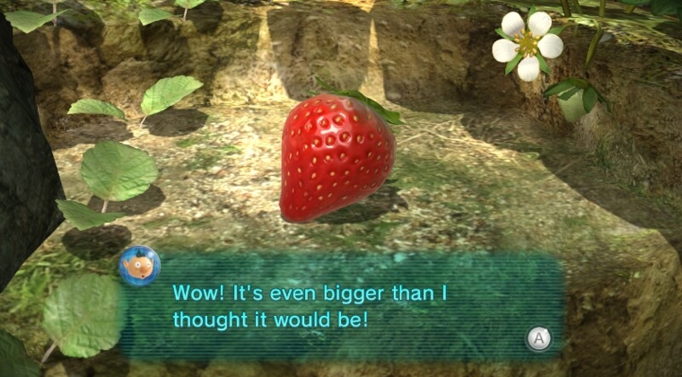Giant strawberry in Pikmin 3