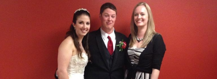Ashley, Ryan and Jocelyn at the Murphy Wedding