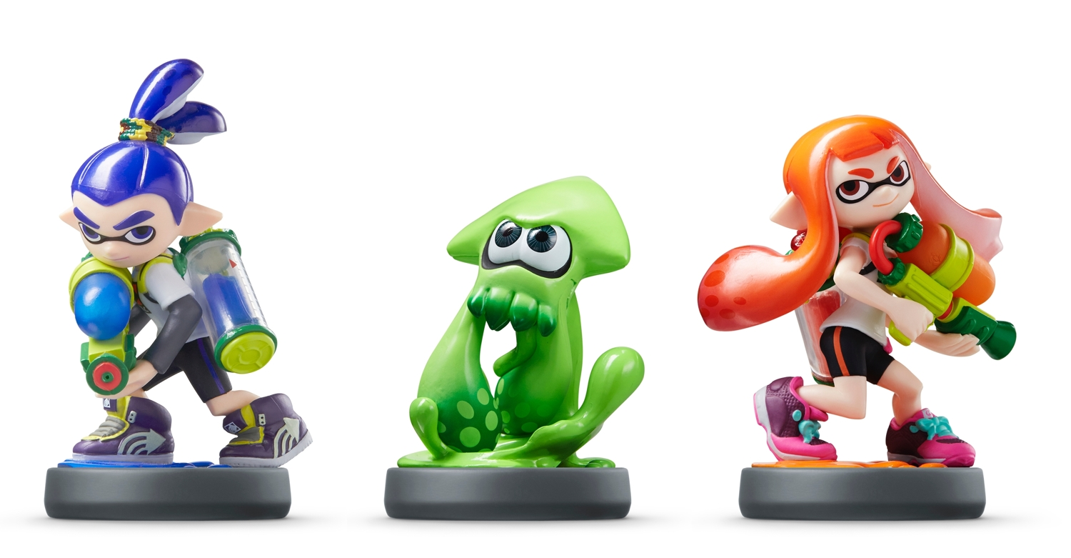 Splatoon Boy, Inkling and Girl amiibo