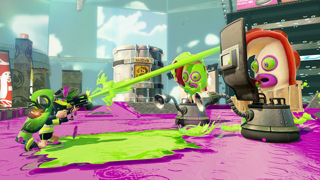 Splatoon Enemy With Shield